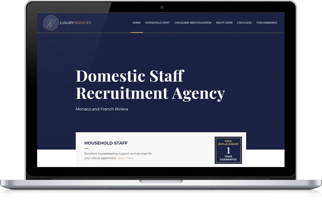 Дизайн сайта кадрового агентства