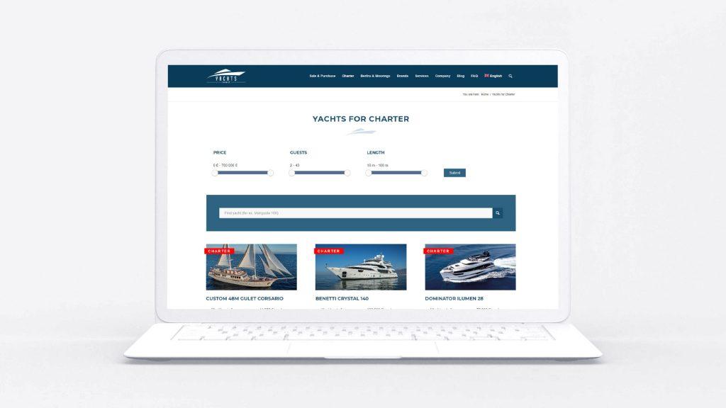 Дизайн сайта яхт-брокера
