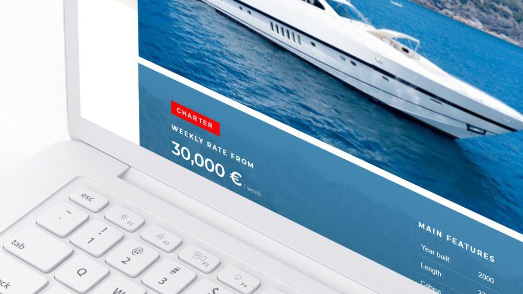 Разработка сайта яхт-брокера