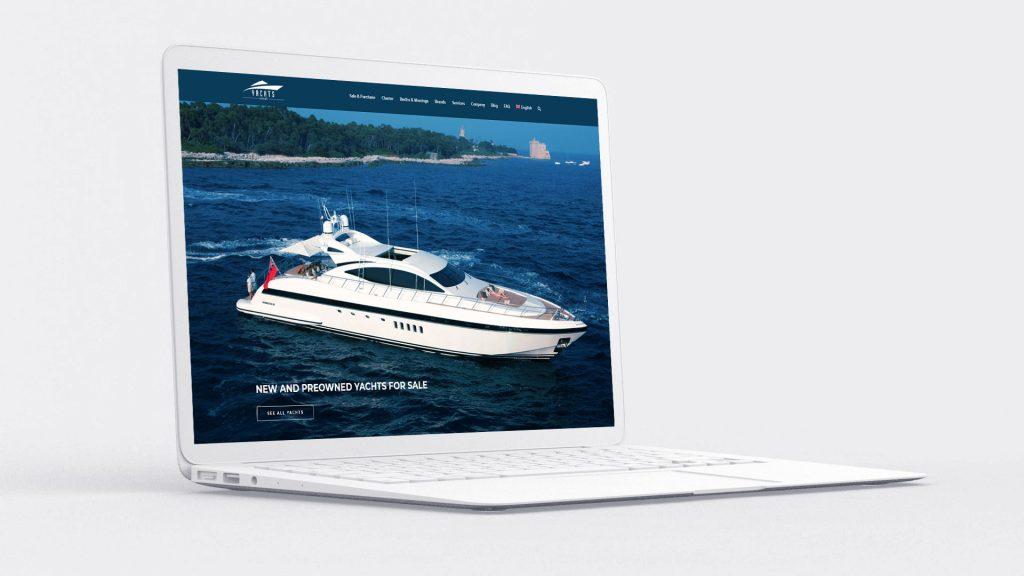 Создание сайта яхт-брокера