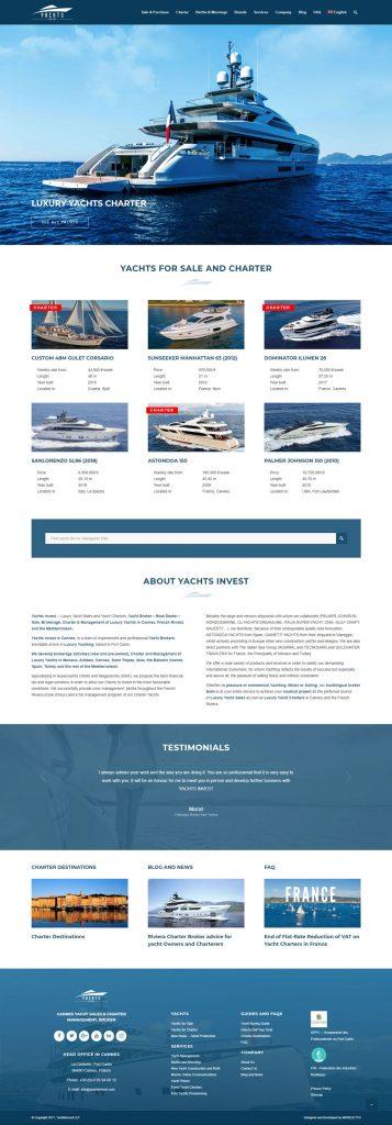 Редизайн сайта яхт-брокера