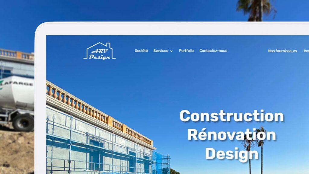 Сайт-витрина для строительной компании во Франции